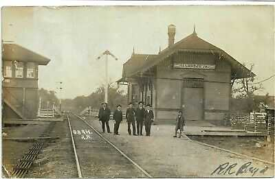 RP Harrisburg Texas GH & H RR Train Depot Postcard 1908