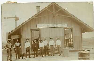 RP Alice Texas Train Depot 1910 Postcard