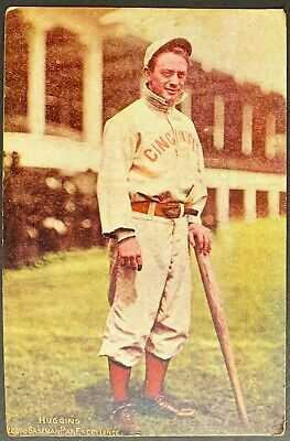1907 Cincinnati Reds MORGAN STATIONERY Red Belt Color Baseball Postcard