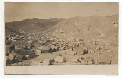 Rare 1908 RPPC Postcard showing Business District in Rawhide Nevada