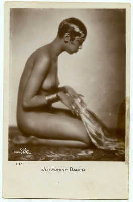 Original Josephine Baker Real Photo Postcard RPPC 1920s Jazz Age Showgirl Icon