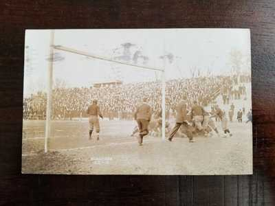 1908 University of Illinois v Iowa Football Game Action Real Photo Postcard RPPC