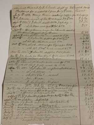 1893 Poor House Pay Out Of Robert Curtis Of Warwick Co. Newport News VA.
