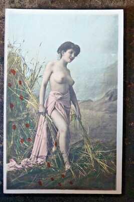 série de 8 cartes postales 1900