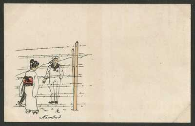 Germany WWI - POW Camp Bando Tokushima Japan - Illustrated Card - unused