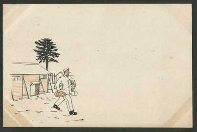 Germany WWI - POW Camp Bando Tokushima Japan - Illustrated Card - unused -- 3