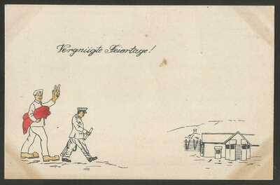 Germany WWI - POW Camp Bando Tokushima Japan - Illustrated Card - unused --- 5