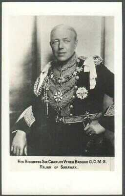 MALAYSIA South East Asia PC  - Sir Charles Vyner Brooke - Rajah of Sarawak - RP