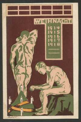 Germany WWI - POW Camp Bando Tokushima Japan - Illustrated Card - unused - 1
