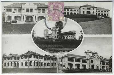 Malaya Johore c.1930 five image photographic card stamped unpoted