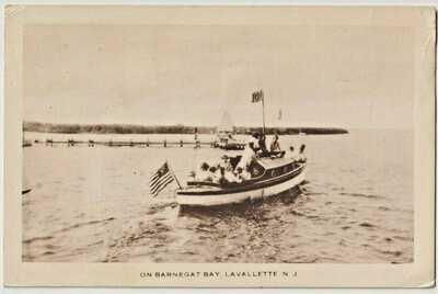 Lavallette NJ  Yacht on Barnegat Bay NJ