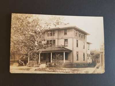 c. 1910 University of Illinois Beta Upsilon House Real Photo Postcard RPPC