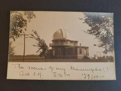 1905 University of Illinois Observatory Real Photo Postcard RPPC Champaign