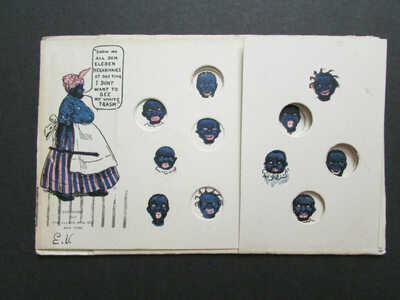 1907 Mechanical Puzzle Postcard Black Americana