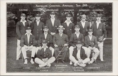 Australian Cricketers American Tour 1913 Cricket Players Postcard G60 *as is