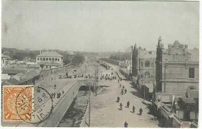 China 1906 Legation Street Peking card stamped, not sent