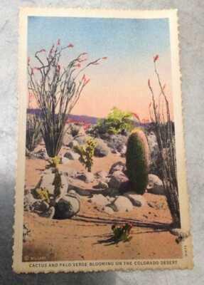 Antique Post Card Signed By Agnes Pelton (1881-1961) Modernist Painter 1932
