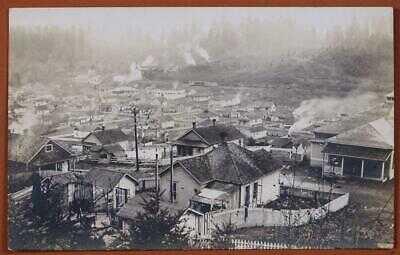 1910 Tono Washington Birds Eye View Real Photo Post Card 1-4