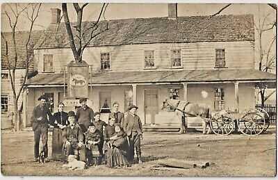 RP Real Photo Family? in front of Squankum Hotel Squankum NJ Farmingdale NJ 1906
