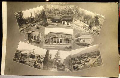 Verdi Lumber Company, VERDI, NEVADA, Photo Post Card, Washoe County 1913