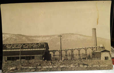VERDI, NEVADA, Osborn Photo Post Card, Washoe County 1908 Lumber Mill