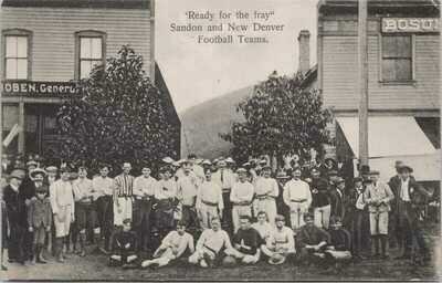 Sandon & New Denver BC Football Teams Soccer c1906 No. A 704/79 Postcard G98