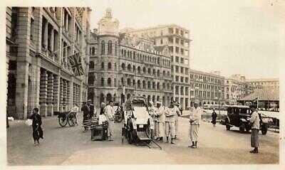 HONG KONG 1930s Small Photo CONNAUGHT RD PRAYA CENTRAL Blake Pier Hongkong CHINA