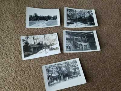 5 circa 1950 Hazelgreen Missouri Route 66 Real Photo Postcards RPPC