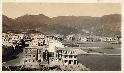 KOWLOON 1938 Small Photo PRAYA VIEW #3 & APARTMENT BUILDINGS Hongkong CHINA