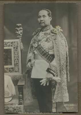 Vintage King Chulalongkorn of Siam Phra Phuttha Chao Luang RPPC Photograph