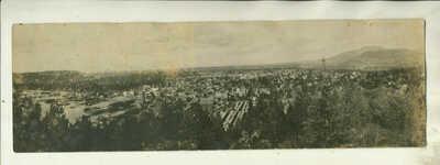 CA1910 REAL PHOTO POST CARD PANORAMA VIEW OF COEUR d' ALENE, iDAHO