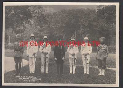 Vintage Photo -  Sir Henry May, The Governor of HONG KONG and his Staff c 1914