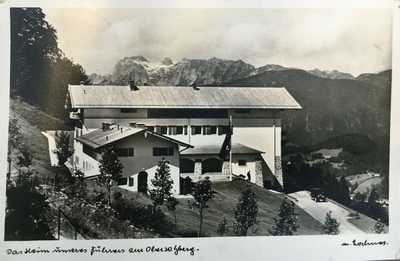 Adolf Hitler Berghof at Obersalzberg - original postcard