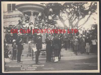 Vintage Photo -  HONG KONG, Governors Annual Inspection of Fire Brigade, c 1914