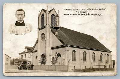 PHOENIXVILLE PA POLISH CHURCH ANTIQUE REAL PHOTO POSTCARD RPPC