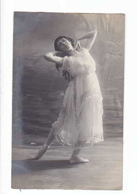 OLD Real Photo Postcard Russian Ballet Dancer Ballerina Sedova 1900s by Fisher