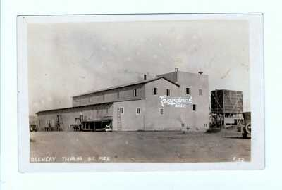 1926 Real Photo Postcard Tijuana Mexico View Of Cardinal Beer Brewery