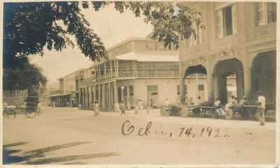 PHILIPPINES CEBU STREET SCENE PU 1922 REAL PHOTO