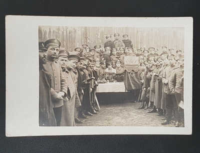 Judaica WW1 WWI Germany praying jewish soldiers real photocard Judaika