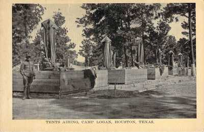 Tents Airing, Camp Logan, Houston, Texas