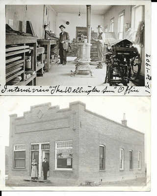 Wellington Colorado Sun Newspaper Lot  Printing office and Bldg. exterior  190