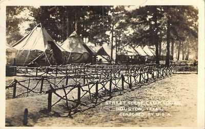 Street Scene, Camp Logan, Houston, Texas, H. H. Morris Photo, RPPC!, 1917
