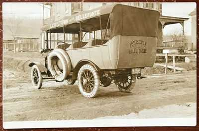 Vintage Guy Conner Bus Bellefonte Lewistown PA RPPC Postcard
