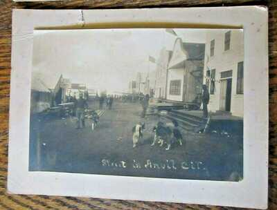 "Two Rare 1899 Photos of Anvil City / Nome Alaska- Sepia Photograph 6"" x 8"" AK"