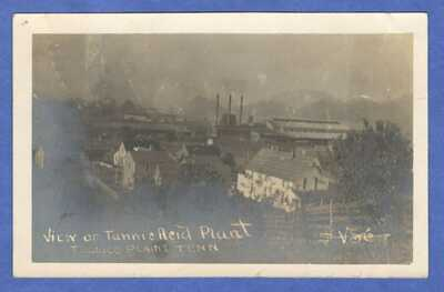 Tellico Plains, TN, Tannic Acid Plant, RPPC, Real Photo Postcard 1910