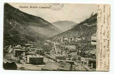 Canada BC British Columbia - SANDON - Kootenays - Town / Mine - 1906 Postcard -