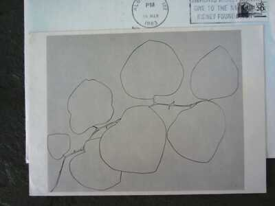 signed //\ Ellsworth Kelly postcard