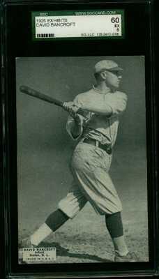 Rare 1925 Postcard Like Baseball Exhibit Card David Bancroft HOF Boston Braves