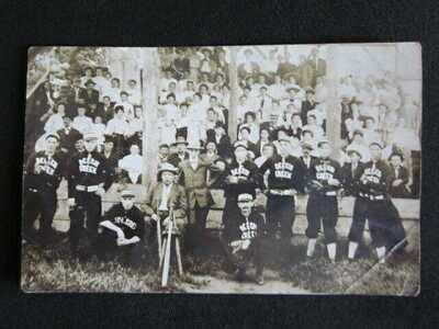 1908 Clinton County BEECH CREEK PA Professional Baseball Team RealPhoto Postcard