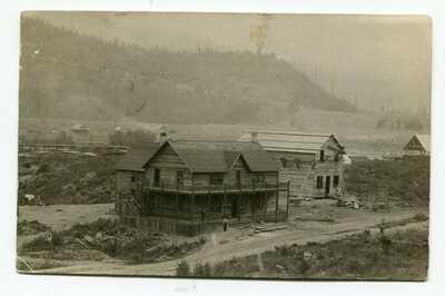 Canada BC British Columbia - Crescent Valley 1910 Store / Mill - RPPC Postcard